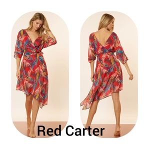 NWT Red Carter Eliza Cover-Up Wrap Dress Sz M